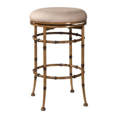 Hilale Furniture Reed Backless Swivel Counter Stool Bar Stools And