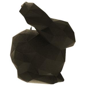 Geometric Rabbit Candle, Black
