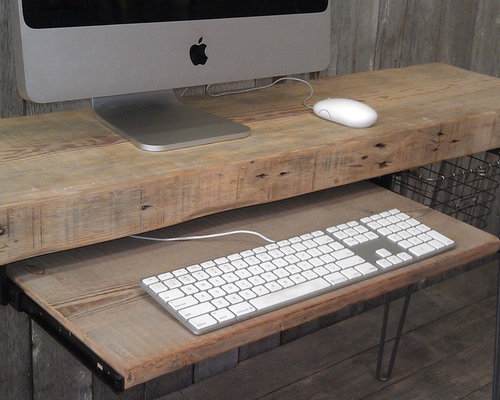 Reclaim wood computer desk - Desks And Hutches - Reclaimed Wood Work Station For Office