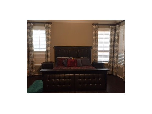 Decor Ideas For Master Bedroom With Dark Furniture And Floor