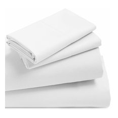 4-Piece Anina Solid 1000 Thread Count Cotton Soft Sheets, Peach, King