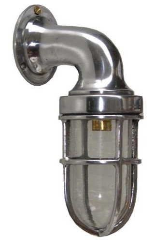 Marine Wall Light: Gaborone Small Swan Neck Marine Wall Light - Outdoor Table Lamps,Lighting
