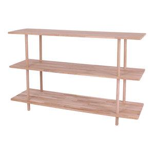 Berlin Solid Oak Bookcase, 3 Shelves