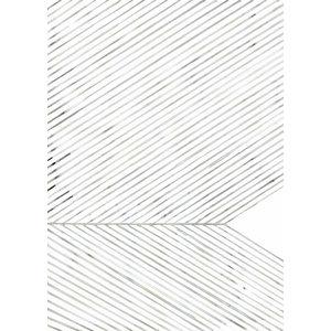 """Leaf Lines (Green)"" Print by Silke Bonde, 50x70 cm"