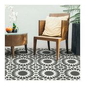 Cordelia Tile Stencil, DIY Cement Tile Stencils, Geometric Floor Tile Stencils