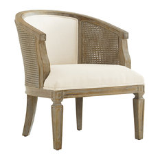 Birch and Foam and Fabric Chair, Gray Wash