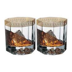 Versace Medusa D'or Whiskey Glasses, Set of 2