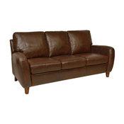 Genuine Italian Leather Sofa in Antique Tan