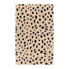 Stella STLA-2443 Beige and Black Animal Print Rug, 9'x13'