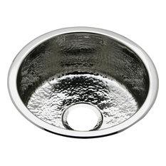 Elkay Stainless Steel Single Bowl Dual Mount Bar Sink, Hammered Mirror