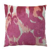 Plutus Velvet Bliss Coral Handmand Throw Pillow, Double Sided, 22x22
