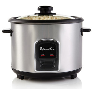 Rice Cooker, 20-Cup Cooked, Stainless Steel