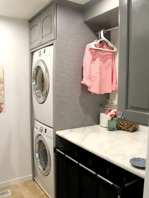 Small laundry room solutions home design ideas pictures - Tiny laundry room ideas ...