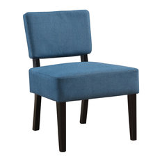 Accent Chair, Blue Fabric