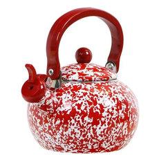 Reston Lloyd Harvest Whistling Teaketle, Red Marble