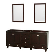 "80"" Acclaim Double Bathroom Vanity, Espresso, No Countertop, No Sink"
