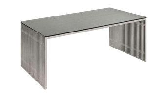 Amici Modern Desk in Stainless Steel