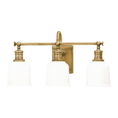Hudson Valley Lighting   Hudson 3 Light Vanity Fixture, Aged Brass    Bathroom Vanity