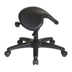 Pneumatic Drafting Chair. Backless Stool With Saddle Seat.