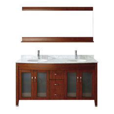63'' Alba Vanity Set, Cherry and Natural Carrera