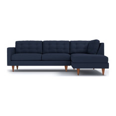 Logan 2-Piece Sectional Sofa, Navy, Chaise on Right