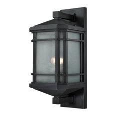 Lowell 1-Light Large Outdoor Sconce, Matte Black