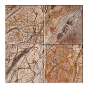 """12""""x12"""" Rainforest Brown Polished, 50 Sq. Ft."""