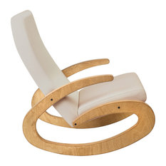 G Rocking Chair, Oak and Beige
