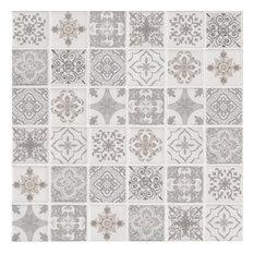 "MSI SMOT-PT-ANY6MM 2"" x 2"" Deco Mosaic Tile - Glossy Porcelain - Blanco"