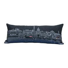 Queen-Sized Washington DC Skyline Cushion, Night, Queen
