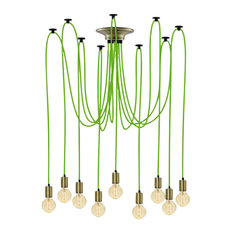 Green And Brass Pendant Light Chandelier
