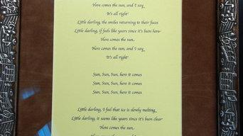 Framed Beatles Lyrics