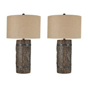 Stein World Transitional Seven Bridges Set Of 2 Table Lamp In Brown 77078/S2