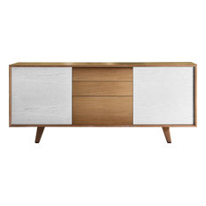 Danubio Honey Oak and White Sideboard
