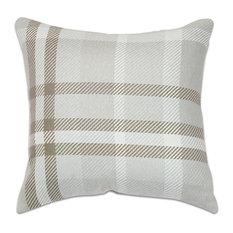"18""x18"" Pacifica Accent Throw Pillow by Astella, Tartan Hemp"