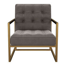 Tove Mid Century Gray Velvet Accent Chair by MOD