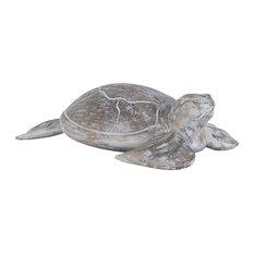 Galapagos Turtle White Washed Albasia Wood