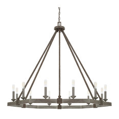 Zac 12-Light Chandelier, Urban Gray