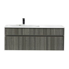 "Eviva Ashy 48"" Bathroom Vanity Gray With Sink"