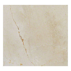 """Polished Beige Crema Marfil Select Marble, 18""""x18"""", 10 Pieces"""