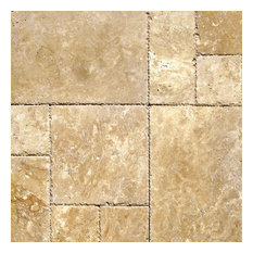 Sample of Kit Tuscany Beige French Pattern Honed, Unfilled and Chipped