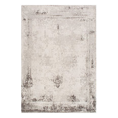 Vintage Abstract Bleached Rug, Gray, 6'x9'