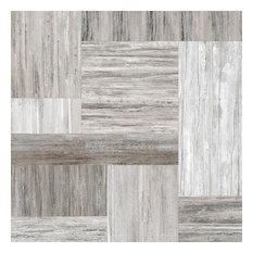 """36""""x36"""" Pictart Porcelain Tile, Gray"""