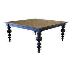 30 dining table expandable james square modern turned leg dining table kona stain and black paint 66 30 tables houzz