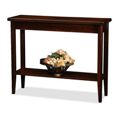 Modern Console Table Solid Hardwood With Chocolate Cherry Finish