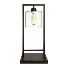 Coaster Black Industrial Edison Design Table Lamp