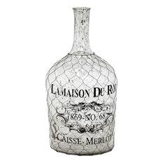 Mercana Coastal Bottle Decor, White