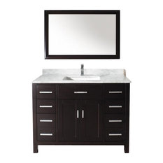 Inch Bathroom Vanities Houzz - Bathroom vanities 48 inch single sink