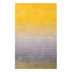 Hand-Tufted Ombre Shag Rug, Yellow, 5'x8'