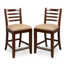American Drew American Drew Tribecca Splat Back Barstools Set of 2 Bar Stools